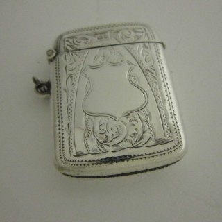 Antique Edwardian Sterling silver vesta case