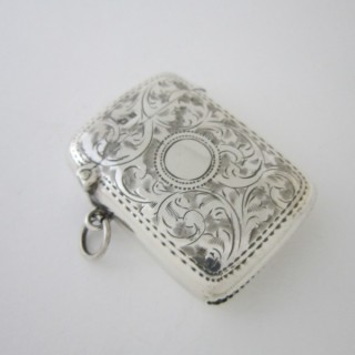 Antique George V Sterling silver vesta case