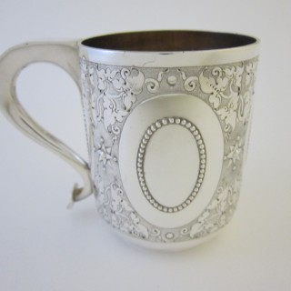 Antique Victorian Sterling silver mug