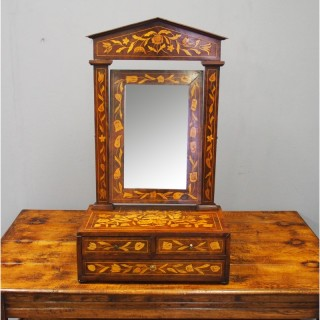 Dutch Marquetry Toilet Mirror