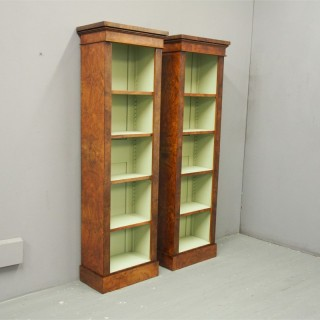 Pair of Victorian Style Open Bookcases