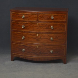 George IV Bowfronted Chest of Drawers