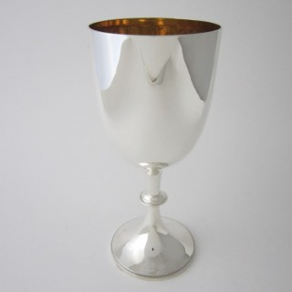 Antique Edwardian Sterling silver wine goblet