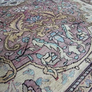 Antique Silk Fereghan rug, Western Persia