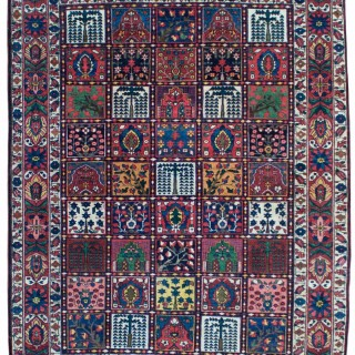 Antique 'Garden' design Baktiari rug, Persia