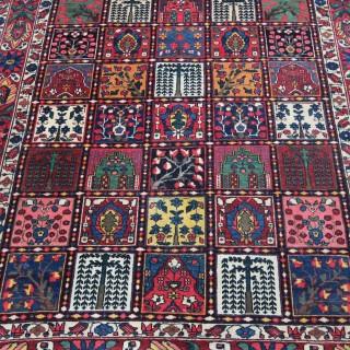 Antique 'Garden' design Baktiari rug, Persia