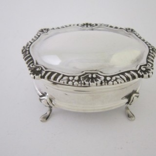 Antique George V Sterling silver trinket box