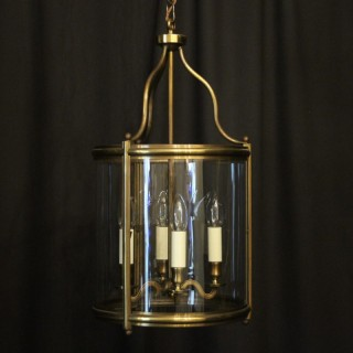 English Brass Four Light Antique Hall Lantern