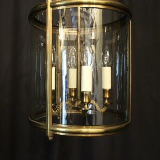English Brass Four Light Antique Hall Lantern