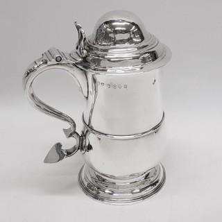 George III Newcastle Silver Lidded Tankard