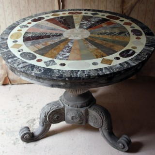 A 19thC Italian Painted & Specimen Marble Topped Centre Table c.1890; The Estate of Sir David Tang