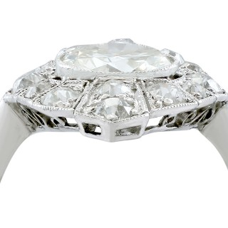 3.60ct Diamond and Platinum Marquise Ring - Art Deco - Antique Circa 1930