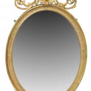 18th Century English Oval Gilt Pier Mirror