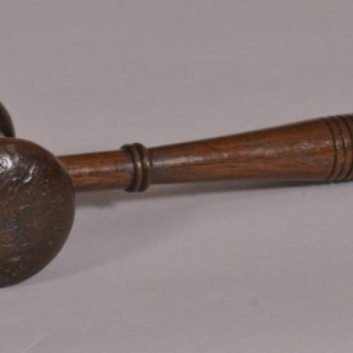 Antique Treen 19th Century Oak Auctioneer's Gavel