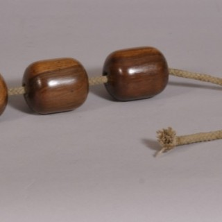 Antique Treen 19th Century Set of Three Lignum Vitae Plumber's Dollies