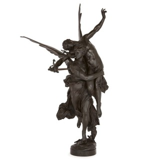 'Gloria Victis' bronze group by Barbedienne after a model by Mercié
