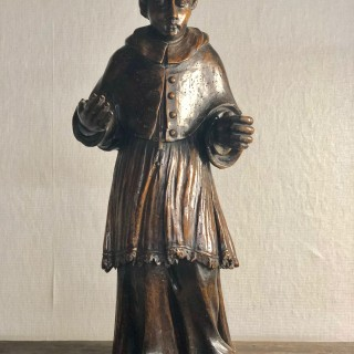 Walnut sculpture of Cardinal Boccomico Lomardia c1600