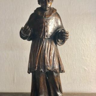 Walnut sculpture of Cardinal Boccomico Lomardia c1600