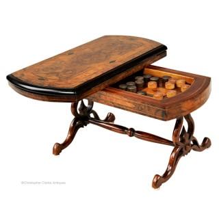 Victorian, Miniature  Walnut Games Table