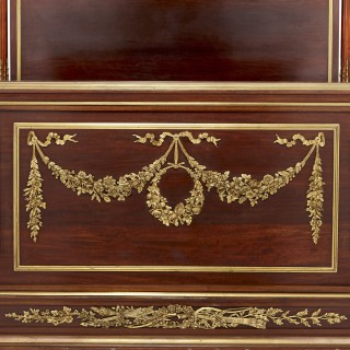 Neoclassical style mahogany and gilt bronze bed