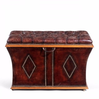 An unusual shaped Willian  IV rosewood framed box ottoman