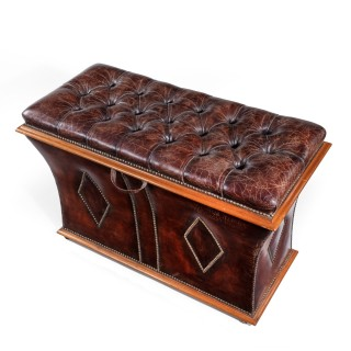 An unusual shaped Willian  IV rosewood framed box ottoman