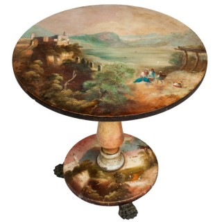Antique Painted Centre Table, English 19th Century