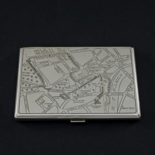Sterling Silver Cigarette Case Commemorating the Coronation of George VI