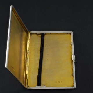 Sterling Silver Cigarette Case Commemorating the Coronation of George VI