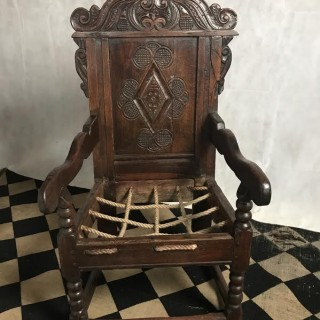An Antique Yorkshire area wainscot chair