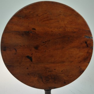 Yew wood tripod table