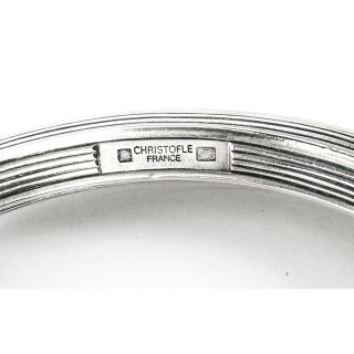 Antique Large French Silver Plated Twin Handled Oval Tray by Christofle 19th C