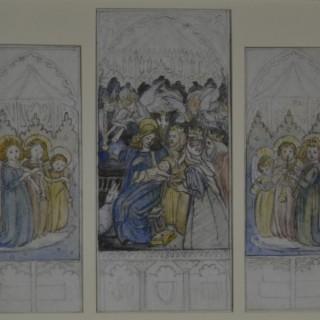 Reginald Hallward - Study for Adoration of the Magi and Angels