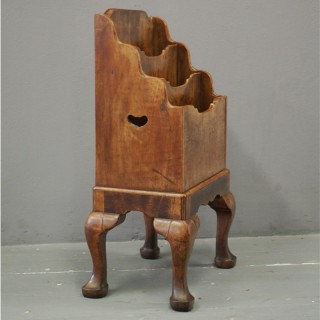 Walnut Waterfall Magazine Rack by Whytock and Reid