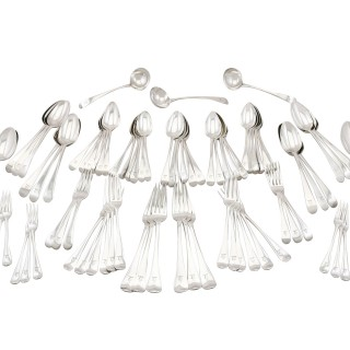 Sterling Silver Canteen of Cutlery - Antique 1774 - 1824