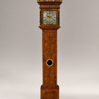 JOSEPH WINDMILLS. A RARE DOCUMENTED WILLIAM III PERIOD 8-DAY WALNUT LONGCASE CLOCK, BY JOSEPH WINDMILLS, LONDON