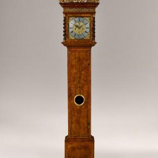 JOSEPH WINDMILLS. A RARE DOCUMENTED WILLIAM III PERIOD 8-DAY WALNUT LONGCASE CLOCK, BY JOSEPH WINDMILLS, LONDON
