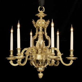 A Louis XIV Style Six-Light Chandelier