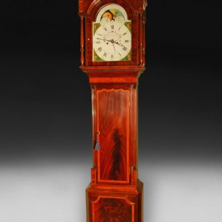 George III Mahogany and Inlaid Longcase Clock by Lott Barwise of Cockermouth