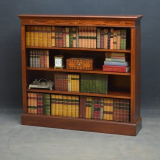 Sheraton Revival Open Bookcase in Mahogany