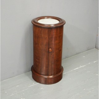 Victorian Mahogany and Marble Top Pedestal