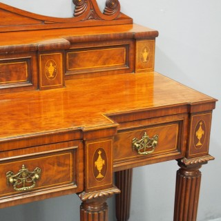 George III Inlaid Scottish Mahogany Sideboard