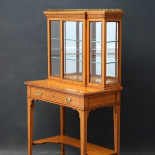Rare Edwardian Satinwood Cabinet