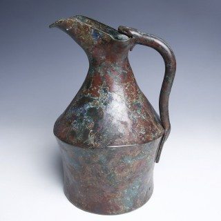 Etruscan Bronze Oinochoe with Snake Handle