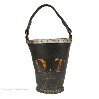 Antique Fire Bucket marked DT