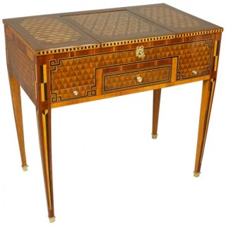 18th Century French Louis XVI Marquetry Dressing Table or