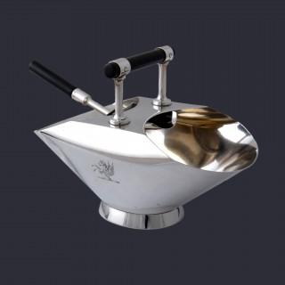 A Christopher Dresser sterling silver sugar basin and shovel