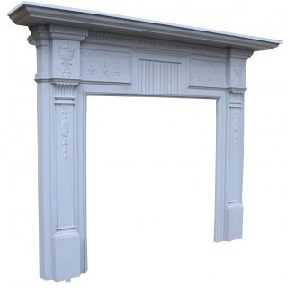Victorian Painted Cast Iron Fireplace