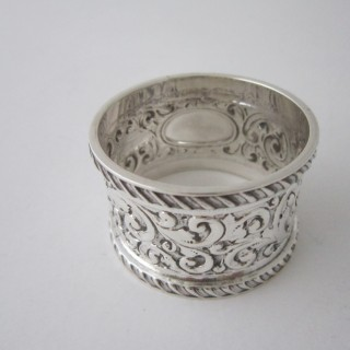Antique Victorian Sterling silver napkin ring