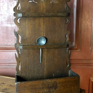 18th Century Oak Spoon Rack